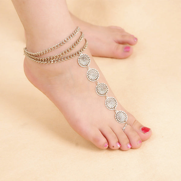 Silver Toe Ring Anklet