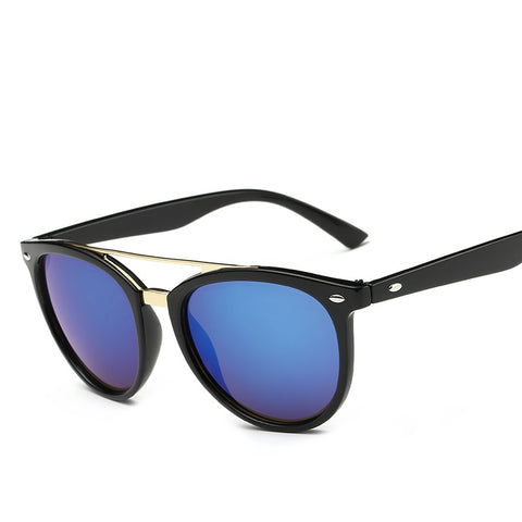 Octa Fashion Sunglasses: Horn Rimmed Round