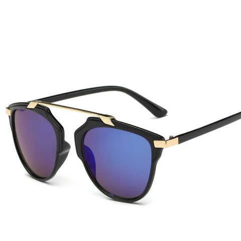 Octa Fashion Sunglasses: Metallic Bridge Wayfarers
