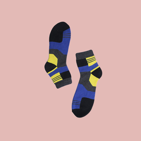 Funky Unisex Fizz Socks: Multicoloured Checks