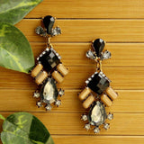 Black Gemstone Earrings