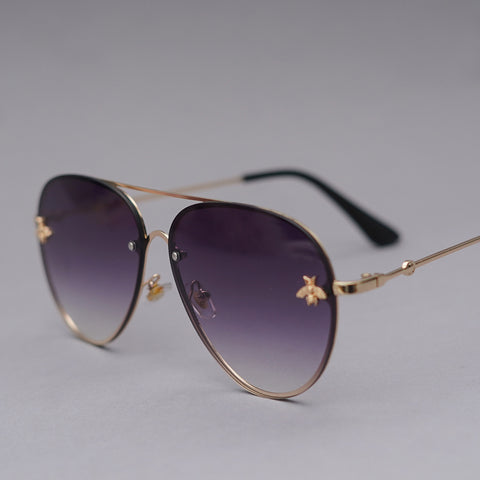 Classic Aviators with Insect Motifs