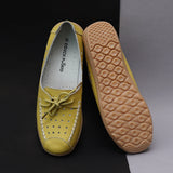 Stitch Detail Lace-up Loafers with Perforations