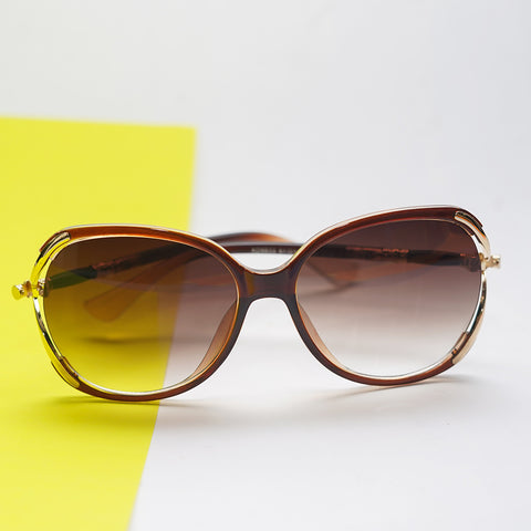 Over-sized Sunglasses with decorative rim