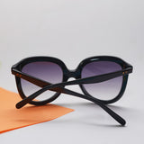 Oversized sunglasses with gradient lens