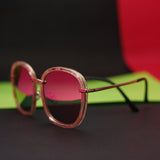 Sleek Temple Sunglasses :  Pink