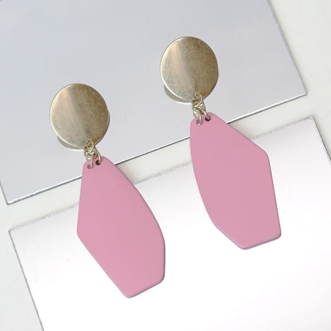 Pink Metal Earrings