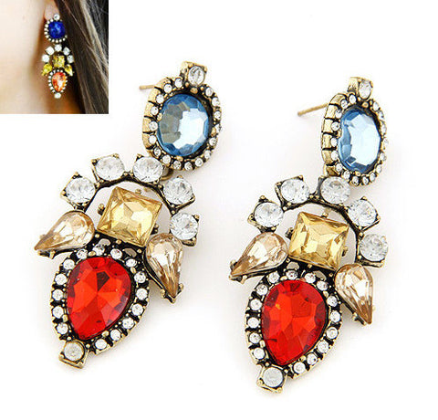 Chica Fashion Jewellery By Fizz : Multicolor Gemstone Earrings