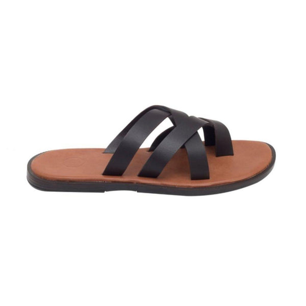 Salvadore Beige-Brown Men's Multi-strap Sandals