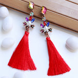 Gemstone & Tassel Fashion Jewellery Earrings