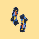 Funky Unisex Socks: Edges & Colors