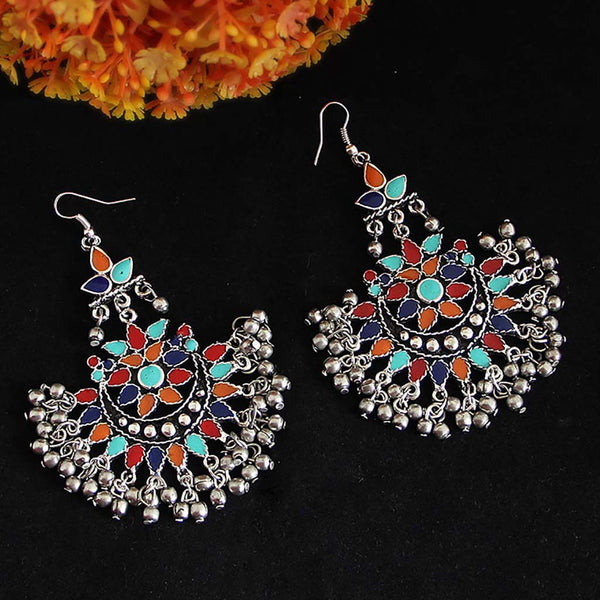 b76c6d738a6f4 Oxidized Silver Color Earrings