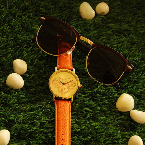 Octa Love Collection Watch & Horned Rimmed Sunsnapper Sunglasses