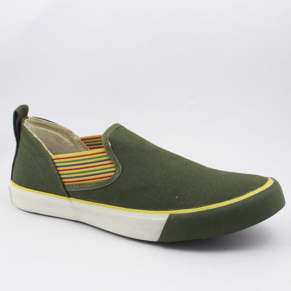 Rexona Olive-Yellow Slip On Sneakers