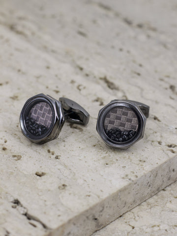 OCTAGON CUFF LINKS