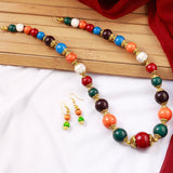 Multicolor Chunky Beads Necklace