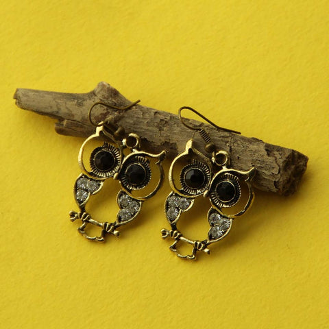 Owl Metal Earrings