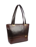 Aliado Faux   Leather Brown Coloured Zipper Closure Formal Handbag