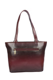 Aliado    Faux Leather Magenta Coloured Zipper Closure Formal Handbag