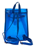 Aliado PVC Solid Blue Tuck Lock Backpack Combo