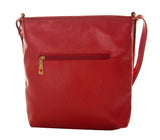 Envie Faux Leather Solid Red Zipper Closure Sling Bag