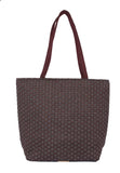 Aliado Jute Black and Coffee Brown  Coloured Zipper Closure Bag