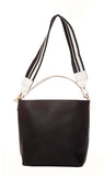 Aliado Faux Leather Solid Grey Zipper Closure Handbag Combo
