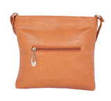 Aliado Faux Leather Mustard Coloured Zipper Closure Handbag - 2
