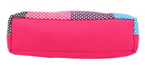 Aliado Cotton Pink and Multi  Printed Zipper Closure Bag