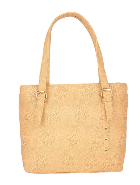 Aliado Faux Leather Mustard Zipper Closure Tote Bag