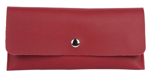 Envie Faux Leather Magenta Magnetic Snap Wallet