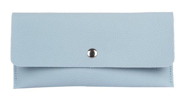 Envie Faux Leather Blue Coloured Magnetic Snap Wallet