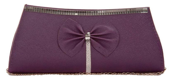 Envie Faux Leather Solid Purple Magnetic Snap Crossbody Bag