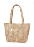 Aliado Faux Leather Cream Coloured Zipper Closure Tote Bag