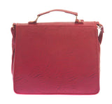 Envie Faux Leather Solid Pink Magnetic Snap Sling Bag - 1