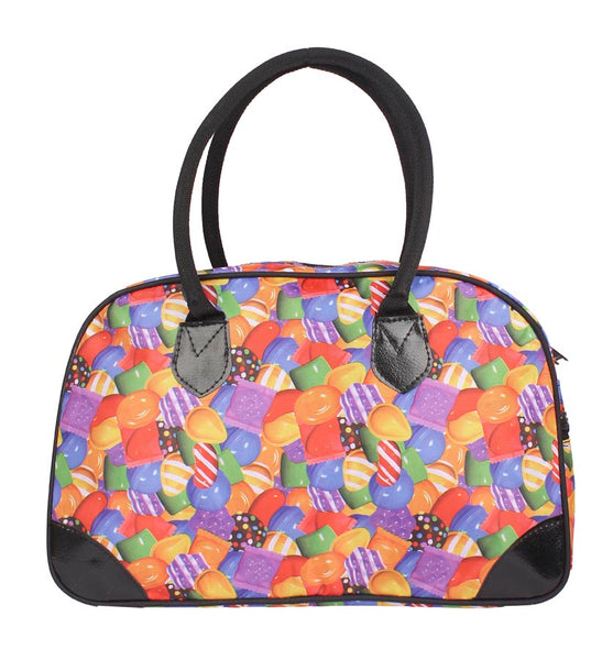 Aliado Cloth/Textile/Fabric Multi Coloured Printed Zipper Handbag