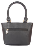 Aliado Faux Leather Black Coloured Zipper Closure Tote Bag - 1