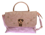 Envie Faux Leather Solid Beige Magnetic Snap Embellished Sling Bag
