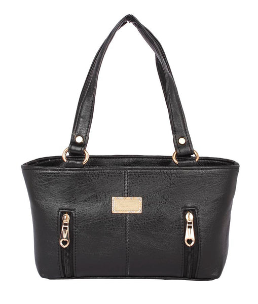Aliado Faux Leather Brown- Brown Coloured Zipper Closure Handbag