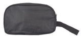 Envie Faux Leather     Black Coloured Zip Closure Cosmetic Bag