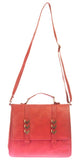 Envie Faux Leather Solid Peach Magnetic Snap Crossbody Bag - 1