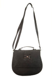 Envie Faux Leather Black Coloured Magnetic Snap Embellished Sling   Bag