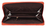 Aliado  Faux Leather      Embellished Peach Zipper Closure Clutch