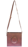 Envie Faux Leather Solid Coffee Brown Magnetic Snap Sling Bag for Women