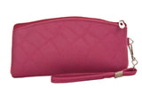Envie   Pink  Faux Leather  cosmetic/utility Bag/pouch