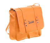 Envie Faux Leather Solid Mustard Magnetic Snap Crossbody Bag