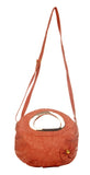 Envie Faux Leather Solid Peach Zipper Closue Crossbody Bag