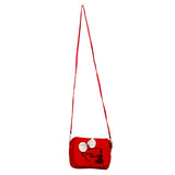 Envie Red Zipper Closure Quilted Pattern Sling Bag