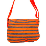 Envie Orange & Grey Zipper Closure Printed Pattern Sling Bag