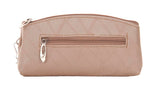 Envie  Cream Faux Leather  cosmetic/utility Bag/pouch